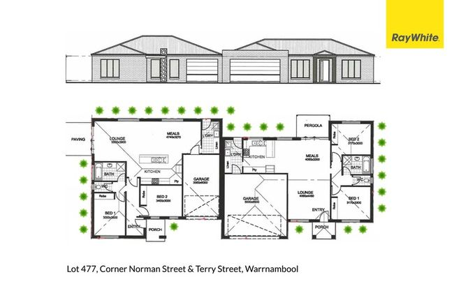 Picture of Units 1 & 2 Lot 477 Cnr Norman & Terry Streets, WARRNAMBOOL VIC 3280
