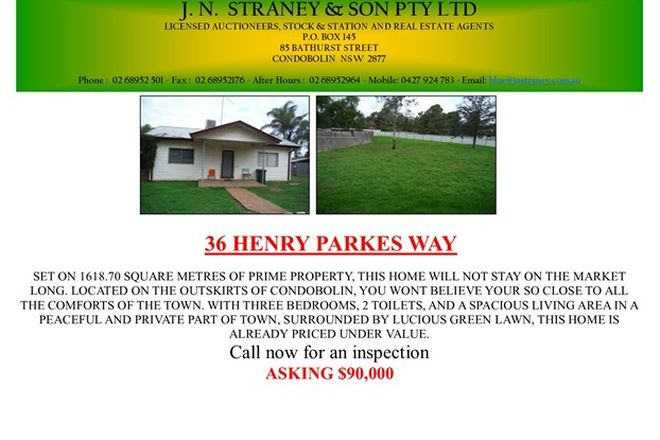 Picture of 36 Henry Parkes Way, CONDOBOLIN NSW 2877