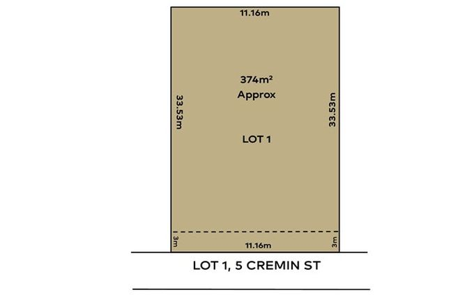 Picture of Lot 1 - 5 Cremin St, FAIRVIEW PARK SA 5126