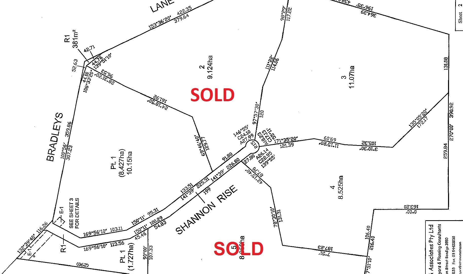 Lot 1, 3 & 4 Shannon Rise, Heathcote VIC 3523, Image 1