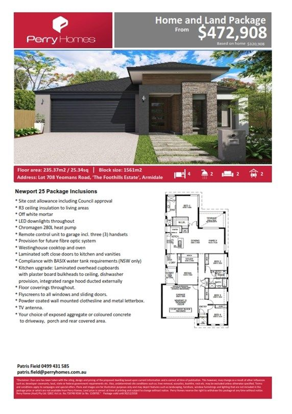 Lot 708 Yeomans Road, Armidale NSW 2350, Image 2