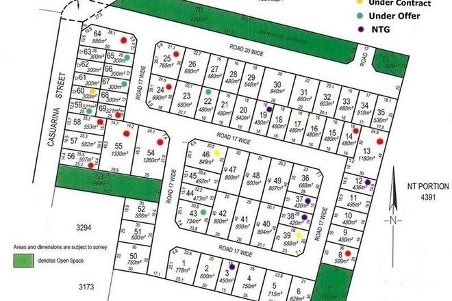 Picture of Lot 3400 Casuarina Park, KATHERINE NT 0850