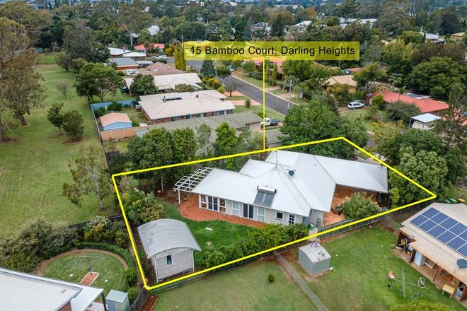 Picture of 15 Bamboo Court, DARLING HEIGHTS QLD 4350