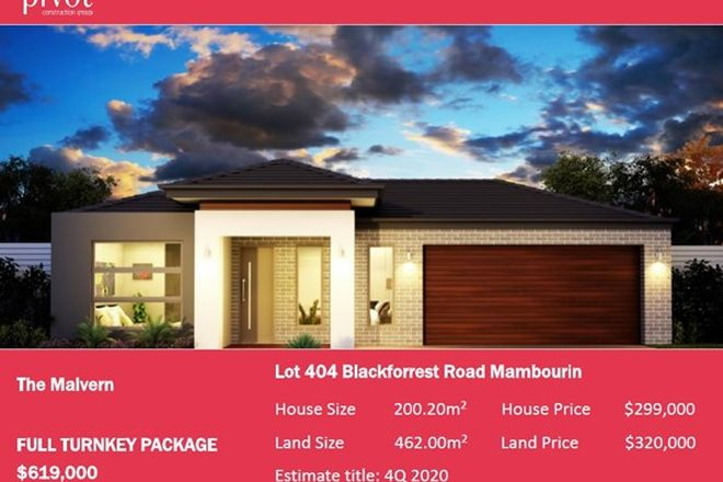 Picture of 420 (Lot 404) Black Forrest Road, MAMBOURIN VIC 3024