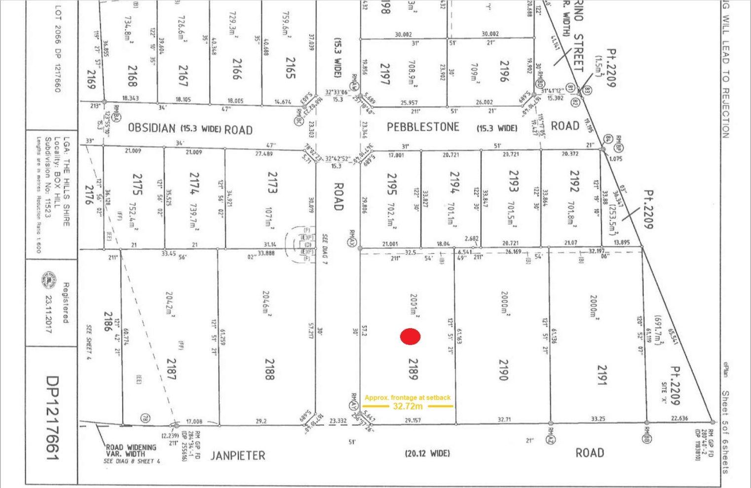 Lot 2189 Janpieter Road, Box Hill NSW 2765, Image 2