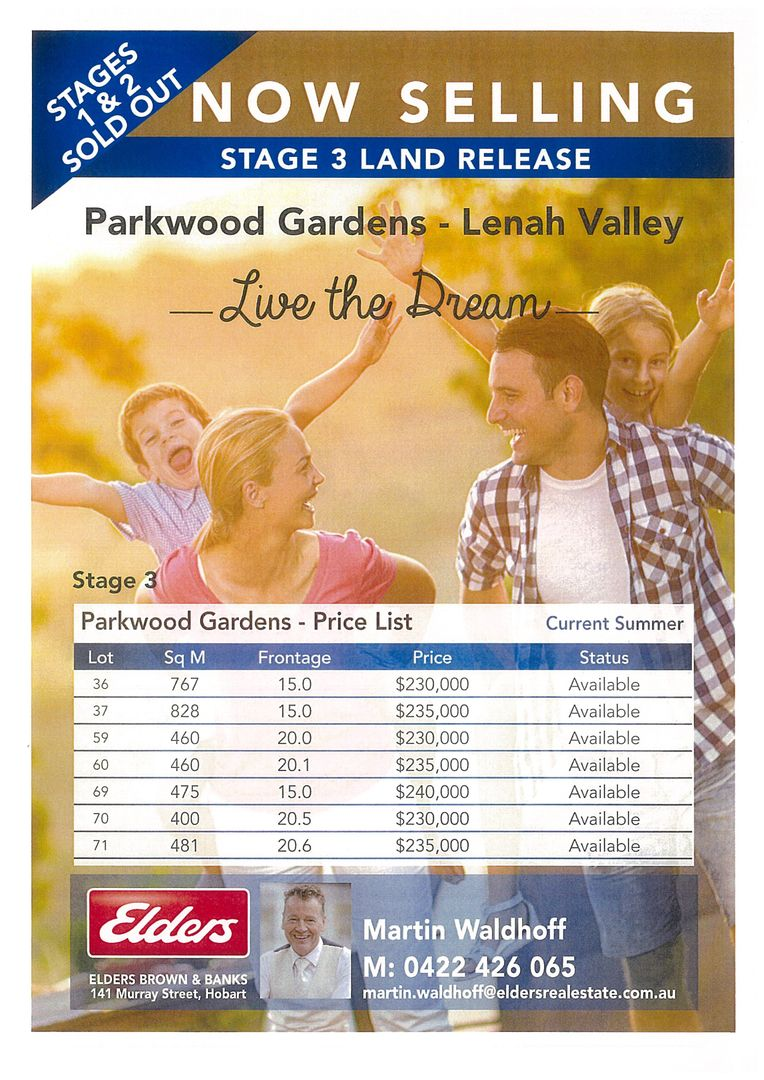 Lot 69 Stage 3 Parkwood Gardens, Lenah Valley TAS 7008, Image 1