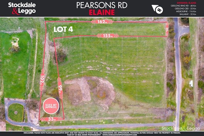 Picture of Lot 4 Pearsons Road, ELAINE VIC 3334