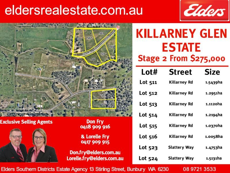 Lot 513 Killarney Rd, Dardanup West WA 6236, Image 1