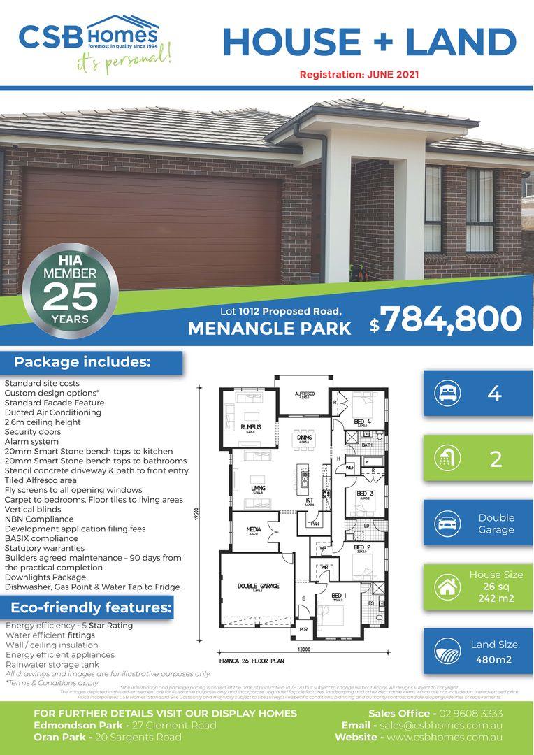 Lot 1012 Proposed Road, Menangle Park NSW 2563, Image 1