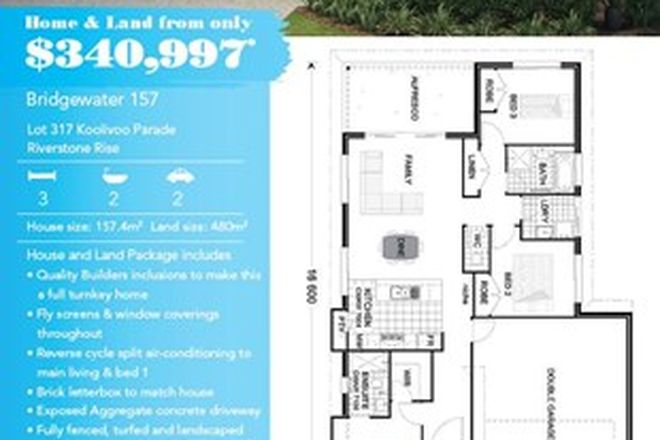"Picture of Lot 317 Koolivoo Parade, Riverstone Rise  ""Bridgewater 157, BOYNE ISLAND QLD 4680"