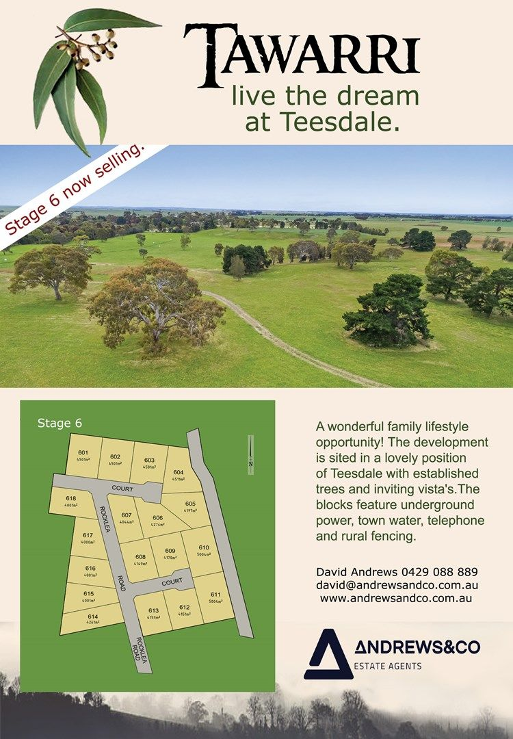 Lot 602 Tawarri Estate, Teesdale VIC 3328, Image 0