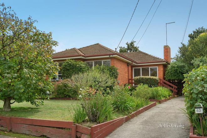 Picture of 63 Rosella Street, DONCASTER EAST VIC 3109