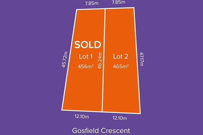 Picture of Lot 1 & 2, 3 Gosfield Cres, HAMPSTEAD GARDENS SA 5086