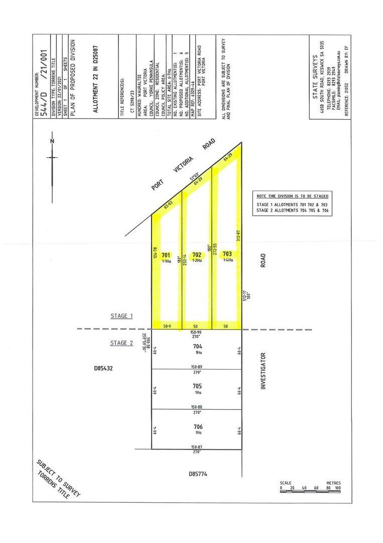 Lot 701, 702 & 703 Port Victoria Road, Port Victoria SA 5573, Image 1