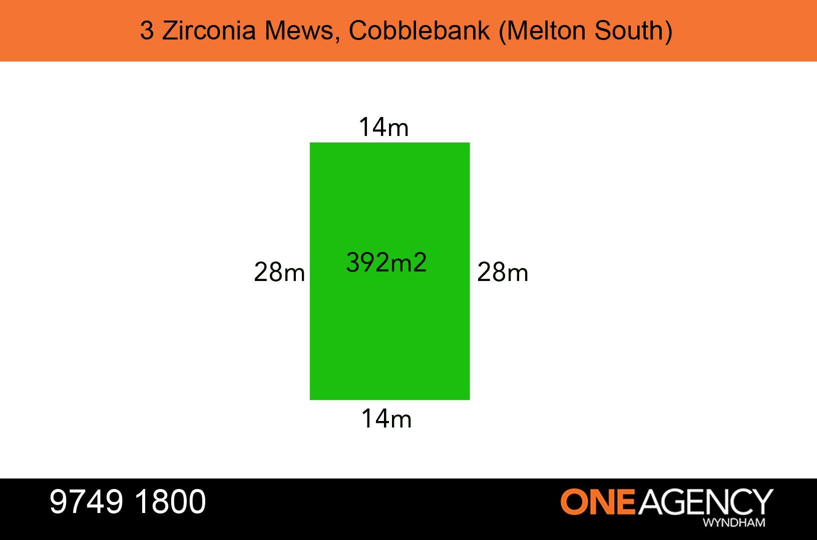 3 ZIRCONIA Mews, Melton South VIC 3338, Image 1