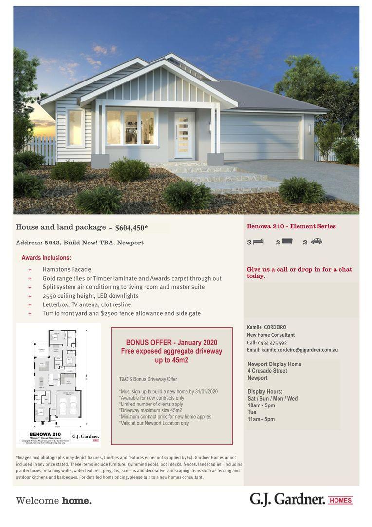 Lot 5243, Build New! TBA, Newport QLD 4020, Image 1