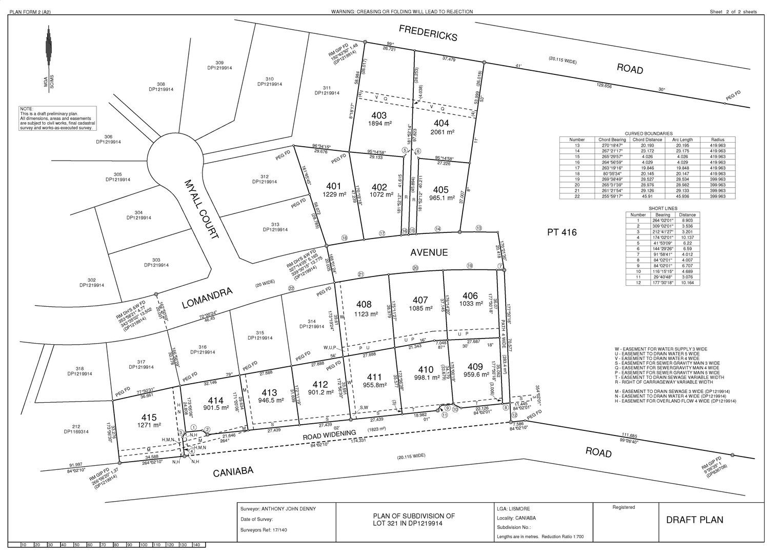 Lot 405 Lomandra Avenue, Caniaba NSW 2480, Image 2