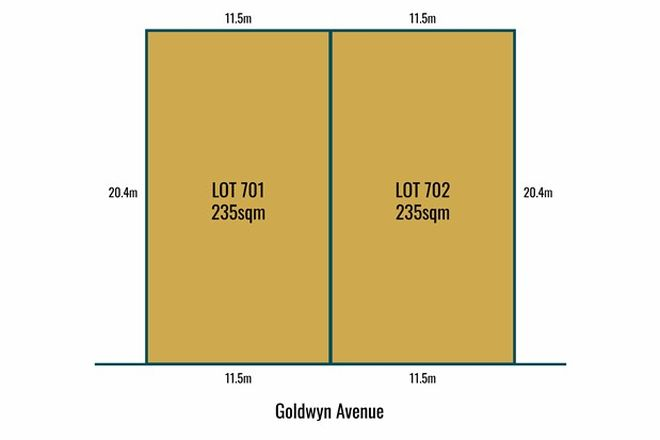 Picture of Lot 701 & 702 Goldwyn Avenue, SALISBURY DOWNS SA 5108