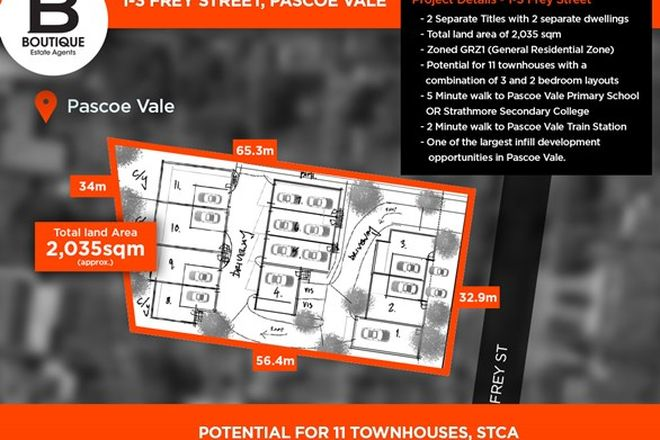 Picture of 1 Frey Street, PASCOE VALE SOUTH VIC 3044