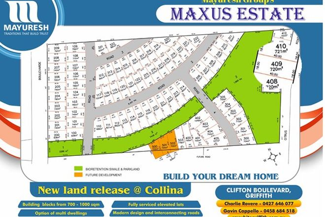 Picture of Lot 409 MAXUS ESTATE, GRIFFITH NSW 2680