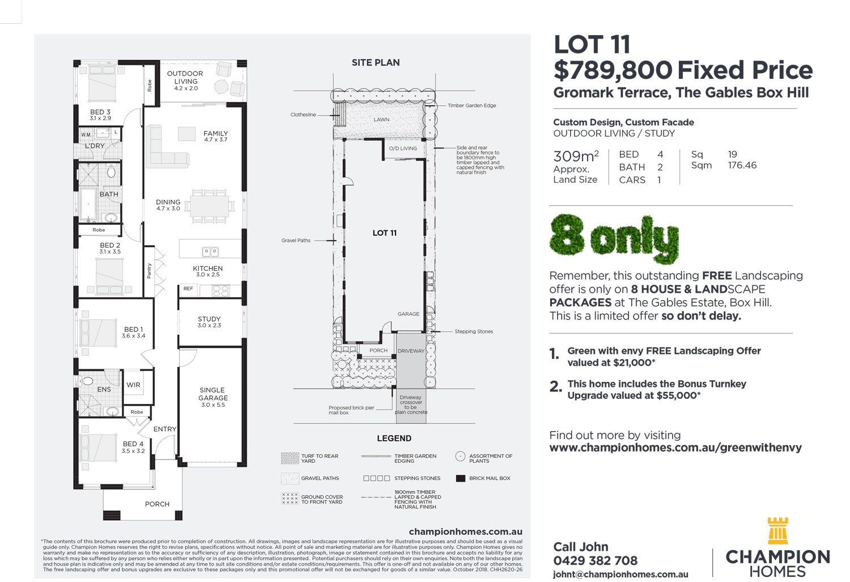Lot 11 Gromark Terrace, The Gables, Box Hill NSW 2765, Image 1