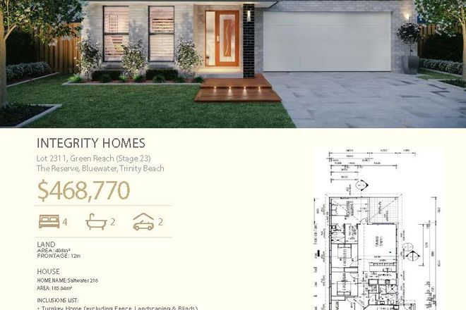 Picture of Lot 2311 Green Reach (Stage23) The Reserve, Bluewater, TRINITY BEACH QLD 4879
