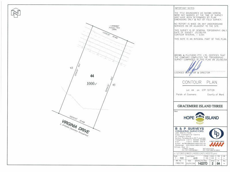 Lot 44 Virginia Drive, Hope Island QLD 4212, Image 1