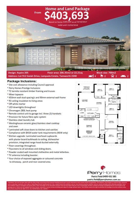 Lot 912 Galah Drive, Tamworth NSW 2340, Image 1