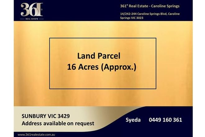 Picture of Settlement rd, SUNBURY VIC 3429