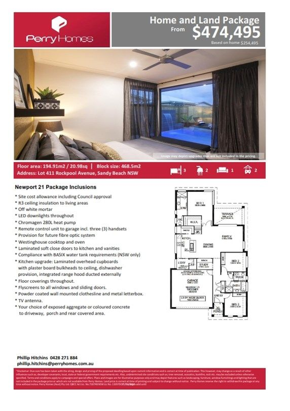 Lot 411 Rockpool Avenue, Sandy Beach NSW 2456, Image 1