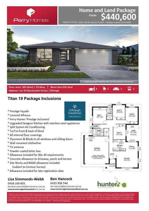 Lot 32 Blacksmith street, Cliftleigh NSW 2321, Image 1