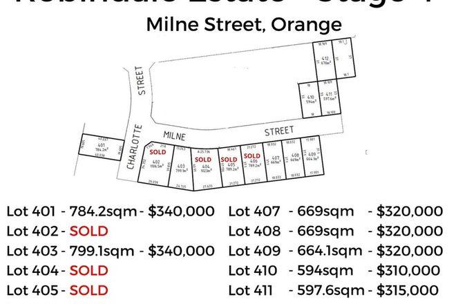 Picture of Lot 410 Milne Street, ORANGE NSW 2800