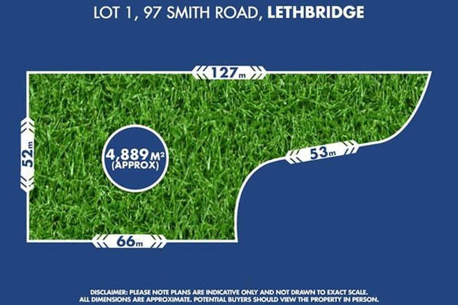 Picture of Lot 1,  97 Smith Road, LETHBRIDGE VIC 3332