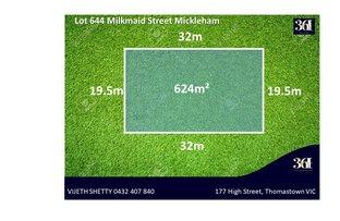 Lot 644 Milkmaid Street, Wallan VIC 3756