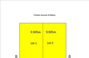 Picture of Lots 1&2 4 Styles Avenue, St Marys SA 5042