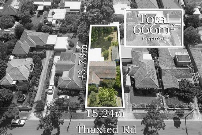 Picture of 16 Thaxted Road, MURRUMBEENA VIC 3163