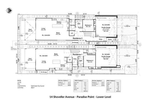 Picture of 1 & 2/14 Shoveller Avenue, PARADISE POINT QLD 4216