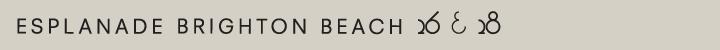 Branding for Esplanade Brighton Beach