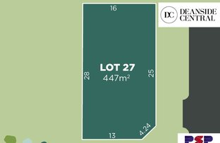 Picture of Lot 27/90-110 Sinclairs Road, Deanside VIC 3336