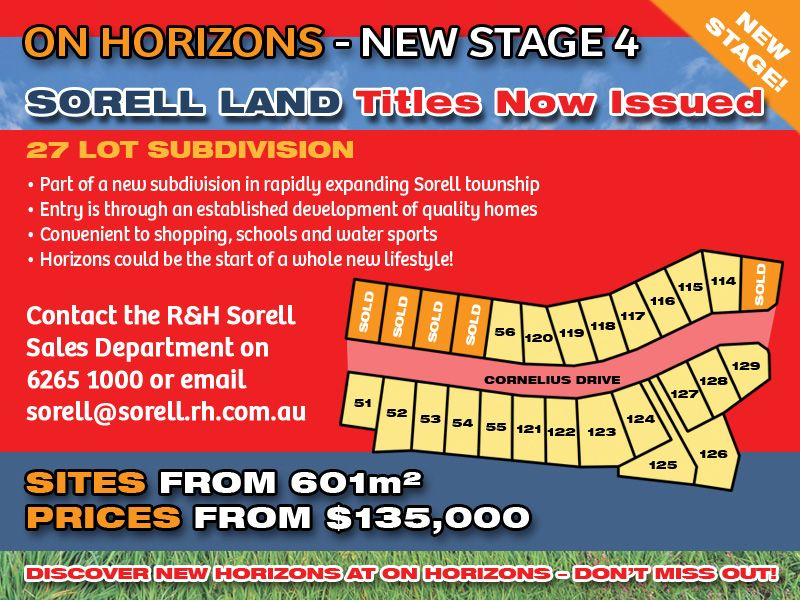Lot 57 'On Horizons', Cornelius Drive, Sorell TAS 7172, Image 0
