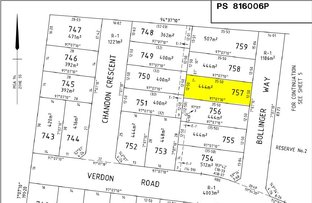 Picture of Lot 757 Bollinger Way, Wollert VIC 3750