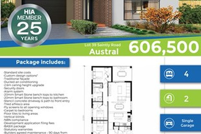 Picture of Lot 39 Saintly Street, AUSTRAL NSW 2179