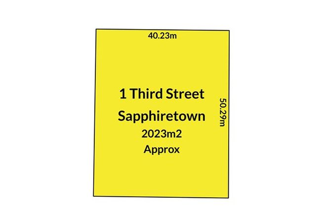 Picture of 1 Third Street, SAPPHIRETOWN SA 5222