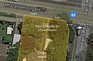Picture of 370 A & B Mount Dandenong Rd, Croydon VIC 3136