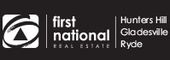 Logo for First National Real Estate Hunters Hill, Gladesville & Ryde