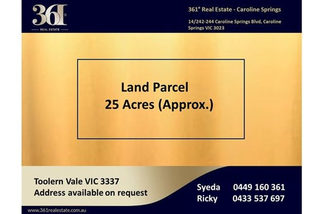 Picture of Holden Road, TOOLERN VALE VIC 3337
