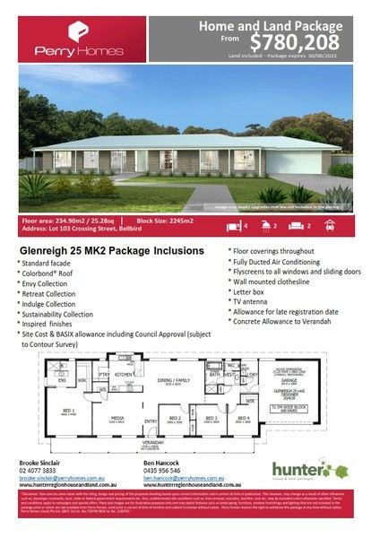 Lot 103 Crossing Street, Bellbird NSW 2325, Image 1