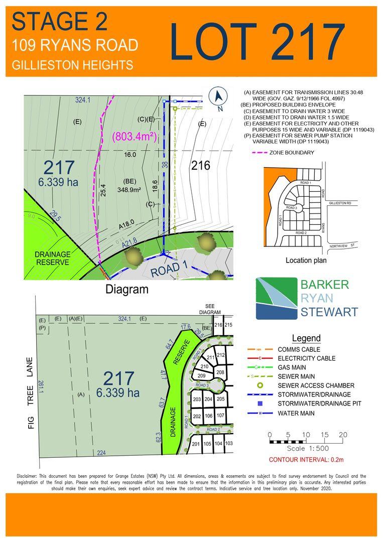 Lot 217 Mountain Views Estate, 109 Ryans Road, Gillieston Heights NSW 2321, Image 1