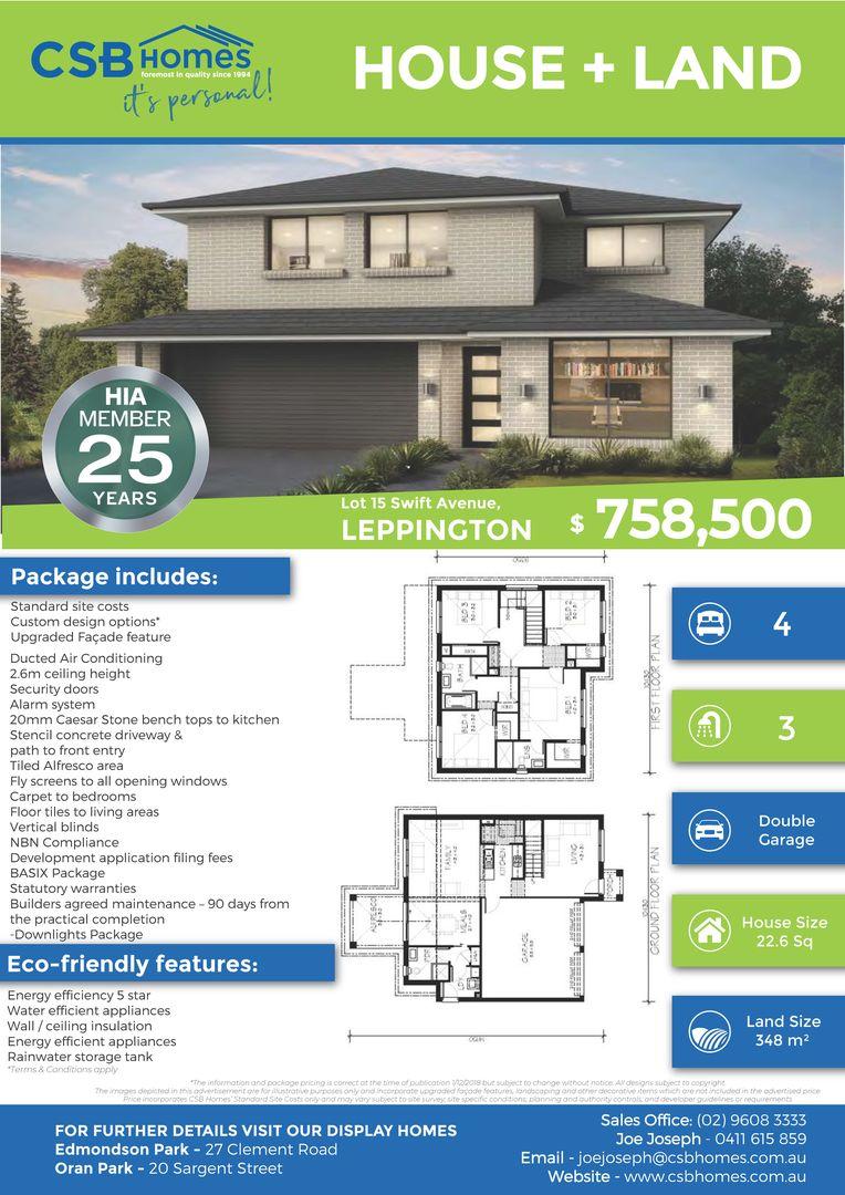 Lot 15 Swift Avenue, Leppington NSW 2179, Image 1