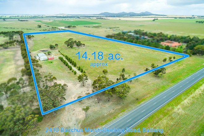 Picture of 2410 Bacchus Marsh Road, BALLIANG VIC 3340